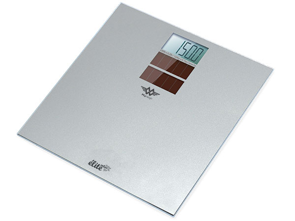 The New Beautiful Elite Solar Silver Gl Bathroom Scale Has A 23st 8lb 150kg Or 350lb Capacity With 0 2lb Resolution Weighs In Stones And Pounds